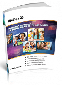 Cover image for THE KEY Study Guide: Alberta Biology 20