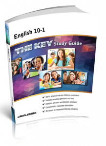 Cover image for THE KEY Study Guide: Alberta English 10-1