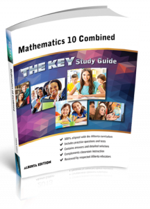 Cover image for THE KEY Study Guide: Alberta Mathematics 10 Combined