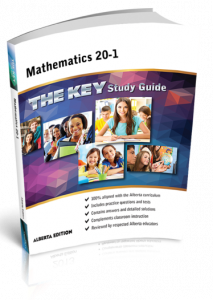 Cover image for THE KEY Study Guide: Alberta Mathematics 20-1