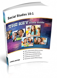 Cover image for THE KEY Study Guide: Alberta Social Studies 10-1