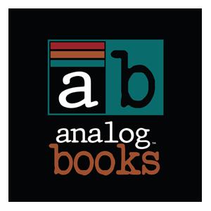 A logo for Analog Books
