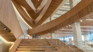 A photo of the entrance way to Calgary Central Library by Calgary photographer Jeff Whyte