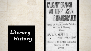 """Image of a Calgary Herald article with the title """"Calgary Branch """"Authors' Ass'n is Inaugurated"""""""