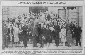 Newspaper clipping: CAA Calgary Conference group photo