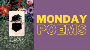 Feature image for Monday Poems series featuring the cover image for Exhibit by Paul Zits