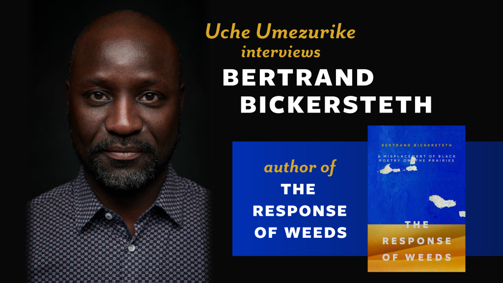 Feature image showing author photo for Bertrand Bickersteth and cover image for The Response of Weeds
