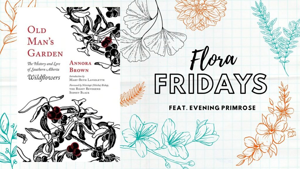 Flora Fridays feature image, including book cover image for Old Man's Garden