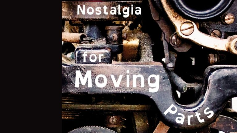 Event image for launch of Diane Tucker's Nostalgia for Moving Parts.